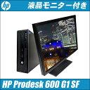HP Prodesk 600 G1 SF 液晶24型モニターセット【中古】 メモリ16GB HDD1000GB0 第4世