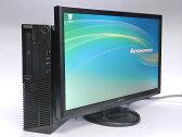 中古パソコン! Lenovo ThinkCenter M72E 22インチ液晶セット Pentium2.7GHzメモリ:4GB HDD:250GB DVDマルチ Winsows7Pro-32bit KINGSOFT OFFICE付【中古】【中古パソコン】【Windows7 中古】