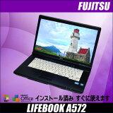 ��ťΡ��ȥѥ������ٻ��� LIFEBOOK A572 Windows7-Pro 64�ӥåȡ���š�15.6������磻�ɱվ�������i3��2.40GHz ���ꡧ4GB HDD��250GB ̵��LAN��¢ DVD-ROM��ܡ�KingSoft Office�դ� ��ťѥ�����