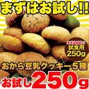おから豆乳ソフトクッキー 5種アソート【お試し250g】