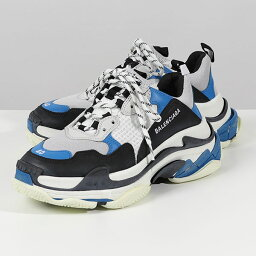 BALENCIAGA <strong>バレンシアガ</strong> 536737 W09OH 1007 TRIPLE S トリプルエス ファブリック <strong>スニーカー</strong> ダットシューズ BLACK/BLU/WHITE 靴 メンズ