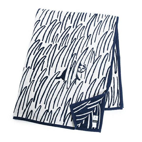 // KLIPPAN クリッパン mina perhonen ミナ ペルホネン 2cats キャット 猫 140×180 オーガニックコットン シュニールコットン リバーシブル ダブルフェイス 大判 シングルブランケット バスタオル 毛布 ひざ掛け ギフト カラー1色 31320++