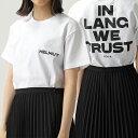【エントリーでポイント最大9倍!5日21時〜23時59まで】HELMUT LANG ヘルムートラング 107LM502 クルーネック 半袖 Tシャツ カットソー VO2-CHALK-WHITE レディース