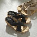 ショッピングカルザノール Calzanor カルザノール 755 SERRAJE スペイン製 アッパークロス スウェード サンダル ジュート ウエッジソール カラー5色 靴 レディース