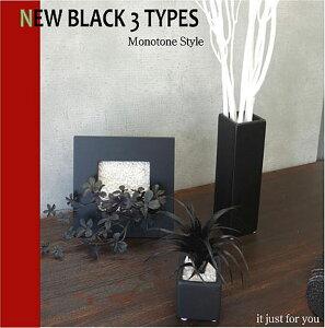 デザイン インテリア ブラック カフェスタイルアレンジ ディスプレイ モノトーン シンプル フェイクグリーン