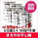 まろやか干し梅 160g×6袋セット ピロ袋入 100個増量【送料無料】