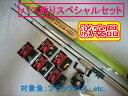 バス釣り入門セット ホライゾンスティック キャスティングロッド/両軸リール ビセオ エコ-1 ベイトリール/スピンテールジグ×5 セット