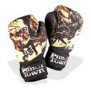 PunchTown[パンチタウン] The Balance<バランス> ウォッシャブル ボクシンググローブ(黒/イエロー)