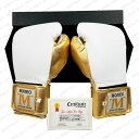 BOXEO TM[ボクセオTM] メキシカン プロ・ボクシンググローブ(白/ゴールド)[MAZAFIGHT限定バージョン] (送料無料)