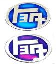 【HB118x80】レトロなトヨタエンブレムシール 昔懐かしトヨタエンブレムをポッティング加工のシールにしました!