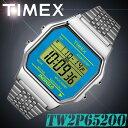 TIMEX【TW2P65200】CLASSIC DIGITAL 34mm幅 タイメックス クラシックデジタル メンズ/レディース/ユニセックス QUARTZ クォーツ デジタル 腕時計 ブルー×シルバー 並行輸入【新品】*送料無料*