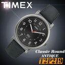 TIMEX【T2P219】CLASSIC ROUND ANTIQUE 42mm径 タイメックス クラシック ラウンド アンティーク メンズ クォーツ 腕時計 レザーベルト ..