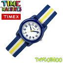TIMEX KIDS TW7C05800 タイメックス キッズ 子供用 アナログ 腕時計 ネイビー ホワイト×イエロー ストライプ 並行輸入【新品】