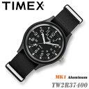 TIMEX TW2R37400 MK1 Aluminum 40mm径 タイメックス MK1 アルミニウム ブラック メンズ/レディース/ユニセックス QUARTZ クォーツ..