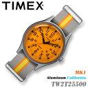TIMEX TW2T25500 MK1 Aluminum California 径 タイメックス MK1 アルミニウム カリフォルニア オレンジ×グレー メンズ/レディース/ユ..