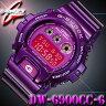 *送料無料サービス*在庫有り!即納可【あす楽対応】CASIO カシオ G-SHOCK Gショック 腕時計 DW-6900CC-6 【防水】Crazy Colors【クレイジーカラーズ】パープル【紫】海外モデル【新品】