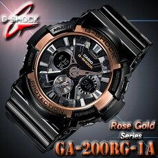 *送料無料サービス*カシオCASIOGA-200RG-1AGショックG-SHOCK腕時計RoseGoldSeries【ローズゴールドシリーズ】耐磁【国内GA-200RG-1AJFと同型】海外モデル【新品】