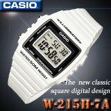������̵�������ӥ����߸�ͭ�ꡪ¨Ǽ�ġڤ������б��ۥ����� CASIO W-215H-7A �ǥ�����STANDARD DIGITAL �������� �ӻ��� �� �ۥ磻�� ������ǥ�ڿ��ʡ�
