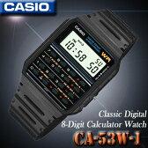 メール便配送180円もOK♪在庫有り!即納可【あす楽対応】CASIO CA-53W-1 カシオ CALCULATOR カリキュレーター 電卓付 腕時計 海外モデル【新品】