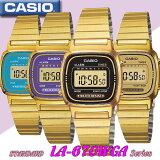メール便180でもOK♪在庫有り!宅配便で【あす楽対応】カシオ CASIO カシオ スタンダード デジタル クォーツ レディース 腕時計 LA670WGA-1 ゴールド×ブラック