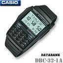 チープカシオ CASIO DBC-32-1A DATABANK カシオ データバンク 電卓 レトロ メンズ レディース デジタル 腕時計 ブラック ウレタンベルト テレメモ25 海外モデル【新品】チプカシ*送料無料*