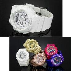 在庫有り!即納可【あす楽対応】CASIOカシオBaby-GベビーGレディース腕時計BA-110-7A3白ホワイト【国内BA-110-7A3JFと同型】海外モデル【新品】