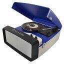 Crosley Collegiate Portable USB Turntable (CR6010A-BL) ポータブルUSBレコードプレイヤー 直輸入品 クロスレイ
