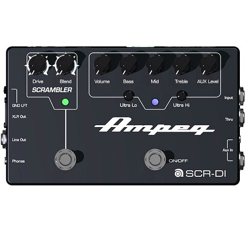Ampeg(アンペグ) / SCR-DI -プリアンプ / オーバードライブ- 《ベースエフェクター》