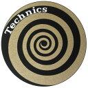 Technics Slipmats (Spiral Gold) スリップマット (2枚/1ペア) テクニクス