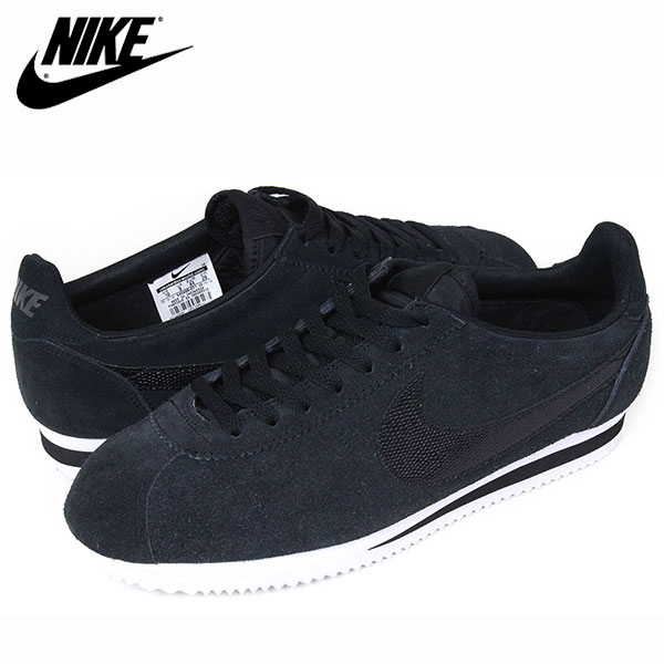 Black and White Nike Cortez Leather