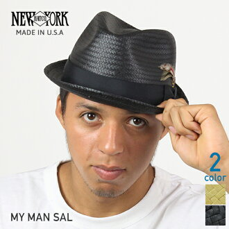 NEW YORK HAT My Men Sal (hat women's straw hat black mens, New York Hat straw hat of monkey 2158)