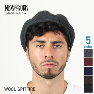 NEW YORK HAT Wool Spitfire (USA in casket mens ladies Made, New York Hat Black of ウールスピットファイア #9055)