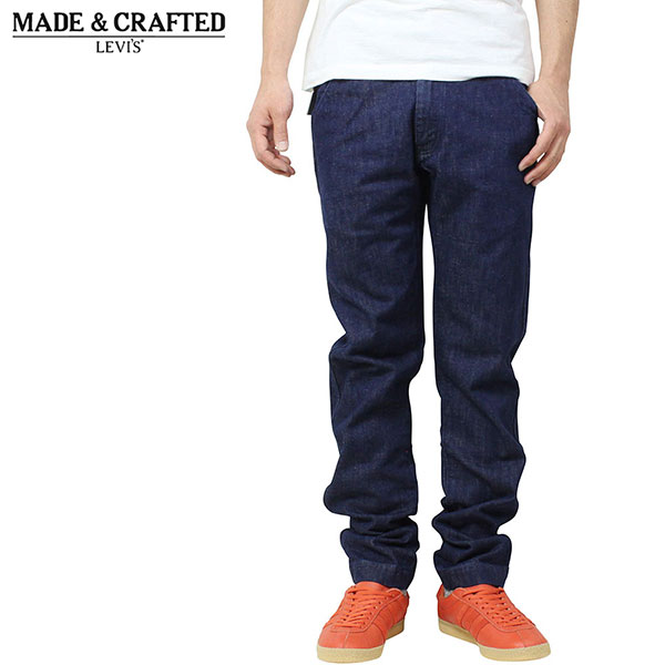 Levi 39 s made crafted spoke chino pants indigo for Levis made and crafted spoke chino
