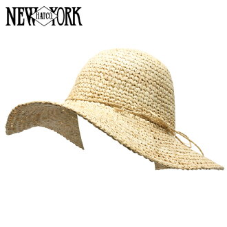 NEW YORK HAT Raffia Floppy (Sun women's straw hat straw hat ladies, New York Hat natural of raffia floppy #7145)