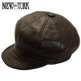 NEW YORK HAT ニューヨークハット Lambskin Spitfire レザーキャスケット [BROWN] ブラウン メンズ レディース 帽子 #9207【あす楽対応】【