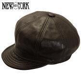 NEW YORK HAT ニューヨークハット Lambskin Spitfire レザーキャスケット [BROWN] ブラウン メンズ レディース 帽子 #9207 送料無料 メール便 楽天 通販 【RCP】