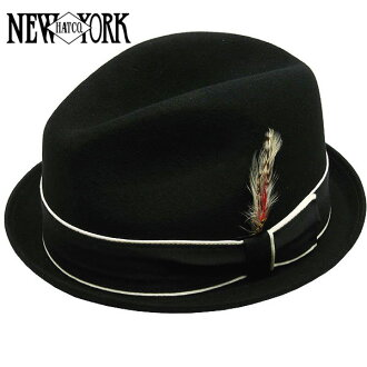 NEW YORK HAT Louie (the New York Hat tear drop Hat Black mens ladies Hat #5304)