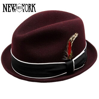 NEW YORK HAT Louie (the New York Hat caps & Fedora Hat dark red mens Womens Hat #5304)