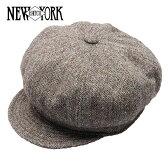 NEW YORK HAT ニューヨークハット Tweed Spitfire ツイードキャスケット [BROWN] ツイードスピットファイア ブラウン メンズ レディース 帽子 #9052 送料無料 メール便 楽天 通販 【RCP】