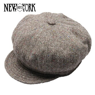 NEW YORK HAT Tweed Spitfire (the men's Made in USA New York Hat ツイードスピットファイア Brown casket #9052)