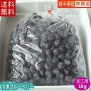 冷凍ブルーベリー(加工用)1kg【送料無料】国産!農薬不使用...