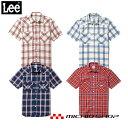 ショッピングウエスタン LEE リーレディースウエスタンチェック半袖シャツLCS43008  サービス ワークウェア 作業服