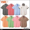 作业服 - ユニフォーム WSP セロリー大柄ギンガム半袖シャツ大きいサイズ5L 63400