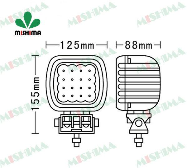 【4個セット】◆作業灯48W LEDワークライト...の商品画像