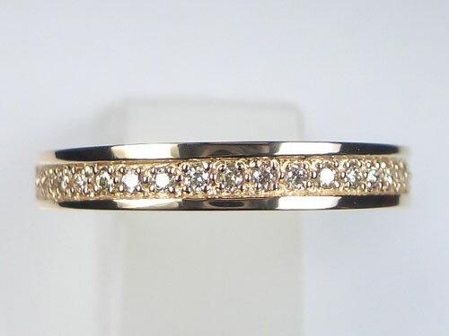 0.1ctのハーフエタニティ♪K18ピンクゴールド ダイヤモンドリング【_包装】【smtb-TD】【saitama】