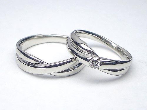 【結婚指輪:ペア価格】0.1ctダイヤ入り(無し)プラチナリング マリッジリング【_包装】【pair】