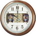 セイコー からくり時計 メロディー電波時計ウェーブシンフォニーRE559H 文字入れ対応《有料》 取り寄せ品