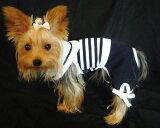 スカーフ付きです。なしでも可愛く着れます☆ワンピースはいかりのボタンでワンぎは足部分のリボンで可愛さをアピールしました♪ボーダーマリンワンピース&つなぎ犬&猫対応【メール便なら送料210!!】