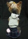 チャームは取り外し可能。チャームなしでもありでも可愛く着れます。定番デニムスカート☆色々アレンジできるのもうれしいね♪デニムスカート犬&猫対応※写真のパーカーはセットではありません