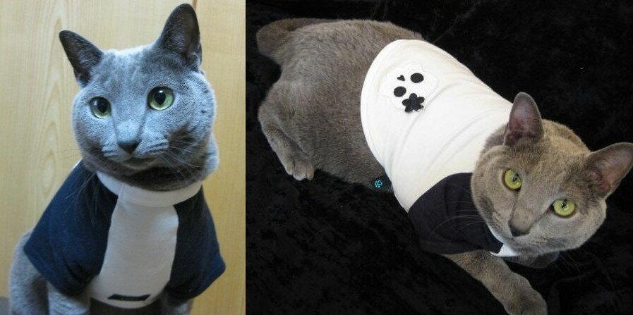 ネック部分がリブになっていて伸縮するので、とっても着やすいです。ツートーンスカルトレーナー猫&犬対応【メール便なら送料210円!!】